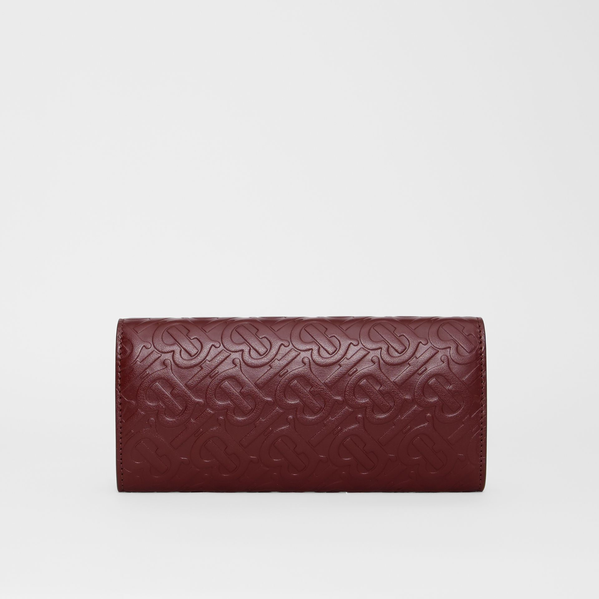 Monogram Leather Continental Wallet in Oxblood - Women | Burberry - gallery image 5