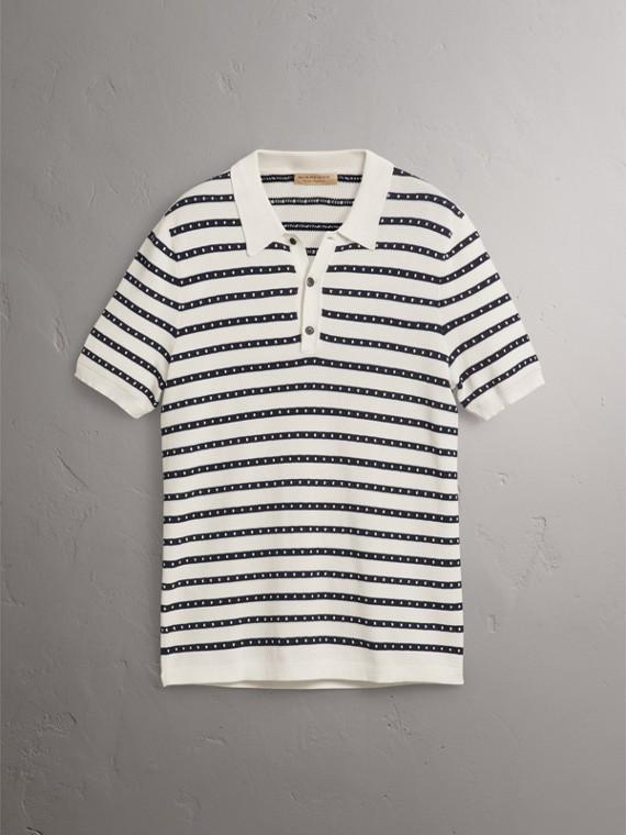 Poloshirt aus Baumwolle mit Streifenmuster (Naturweiss) - Herren | Burberry - cell image 3