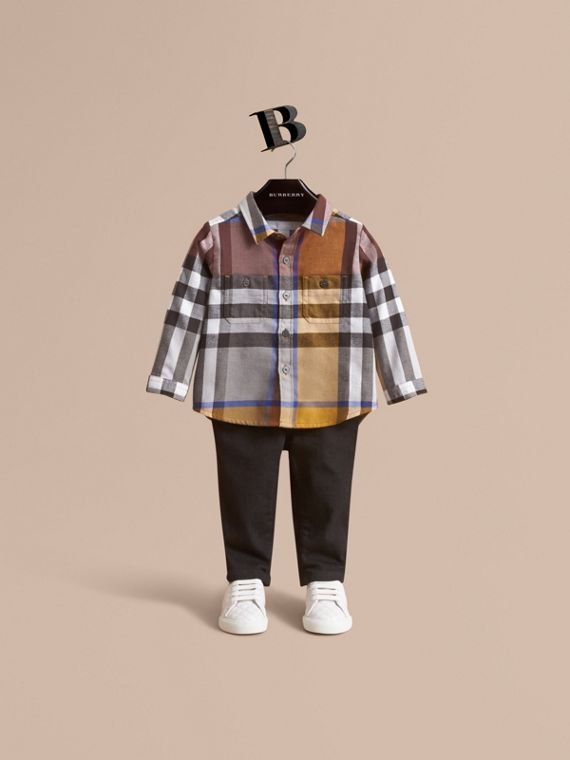 Pocket Detail Check Cotton Shirt | Burberry Singapore