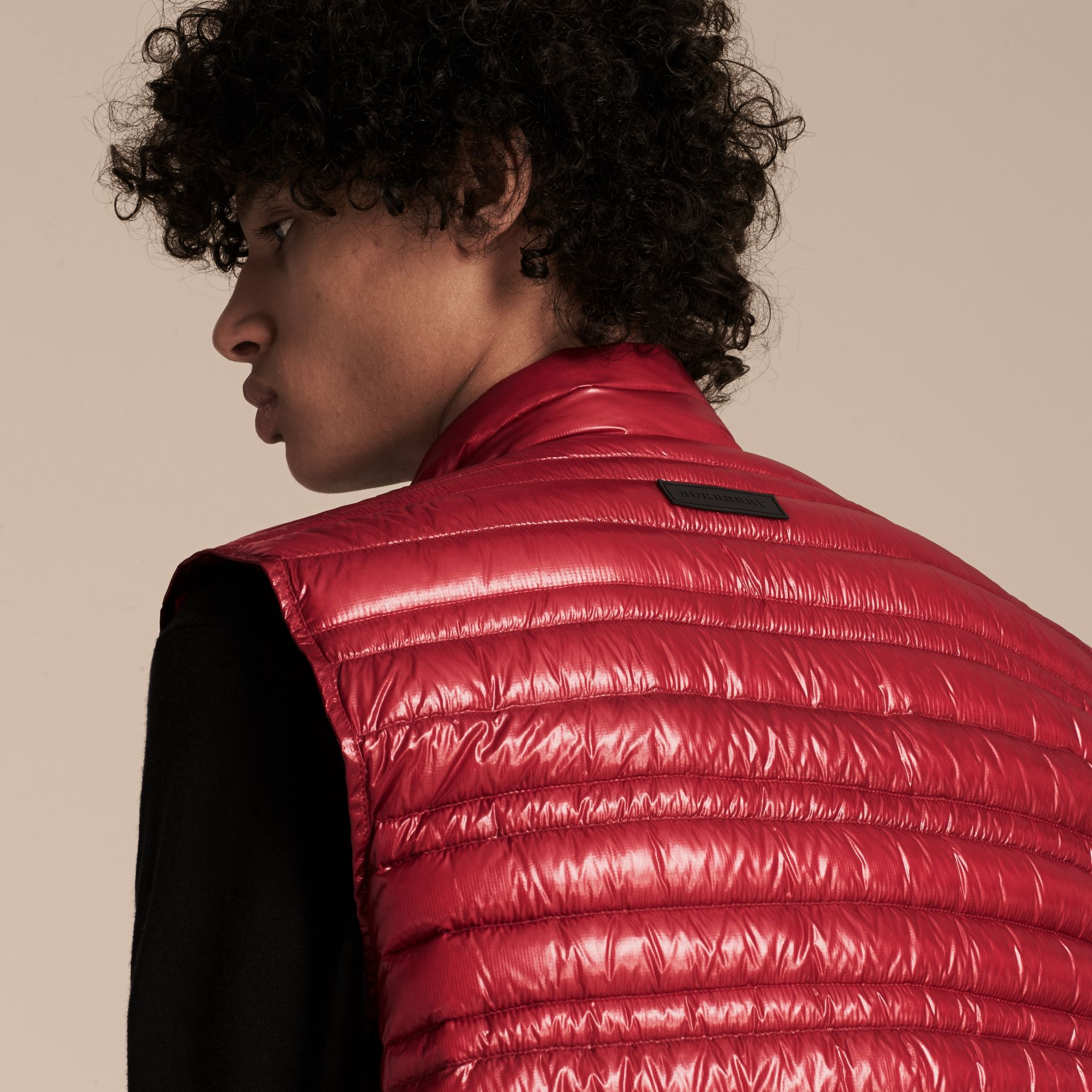 Parade red Lightweight Down-filled Gilet Parade Red - gallery image 5