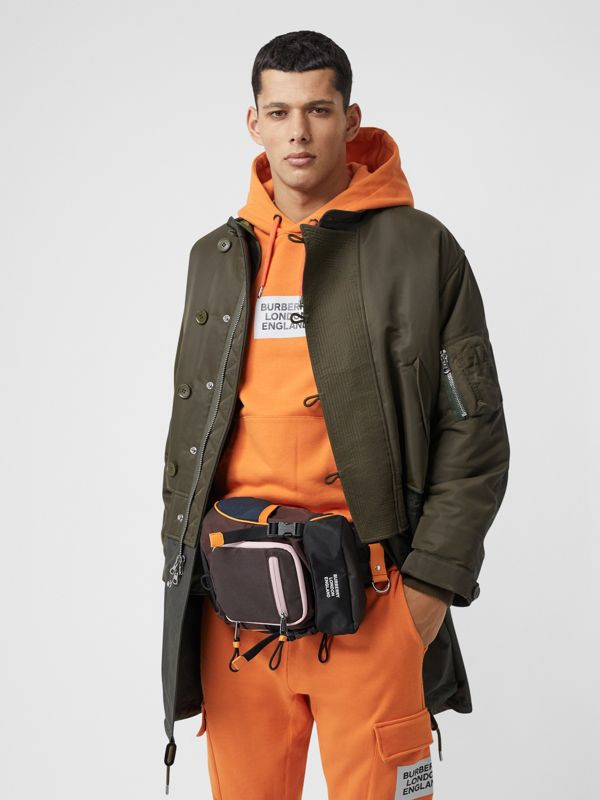 Logo Print Nylon Leo Belt Pack in Coffee - Men | Burberry Singapore - cell image 2