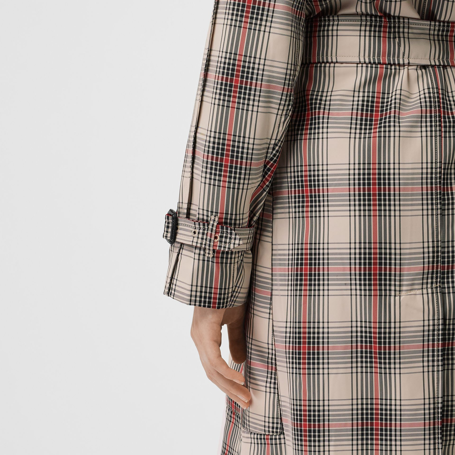 Lightweight Check Trench Coat in Light Nude - Women | Burberry - gallery image 5