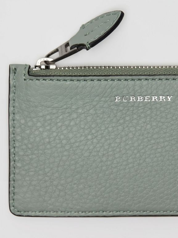 Two-tone Leather Card Case in Grey Blue - Women | Burberry United Kingdom - cell image 1