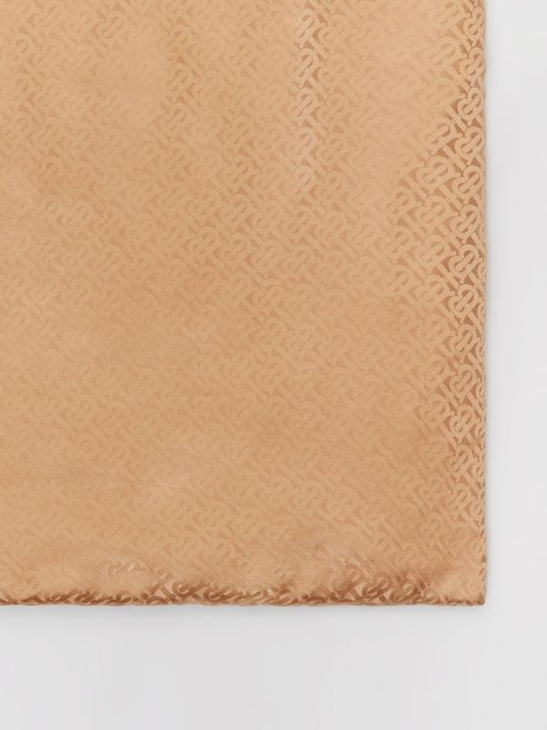 Unicorn Print Monogram Silk Satin Jacquard Throw in Camel | Burberry Canada - cell image 3
