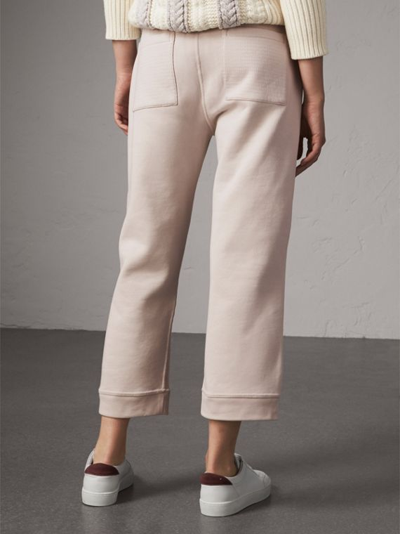 Cropped Jersey Sweatpants in Winter White - Women | Burberry - cell image 2