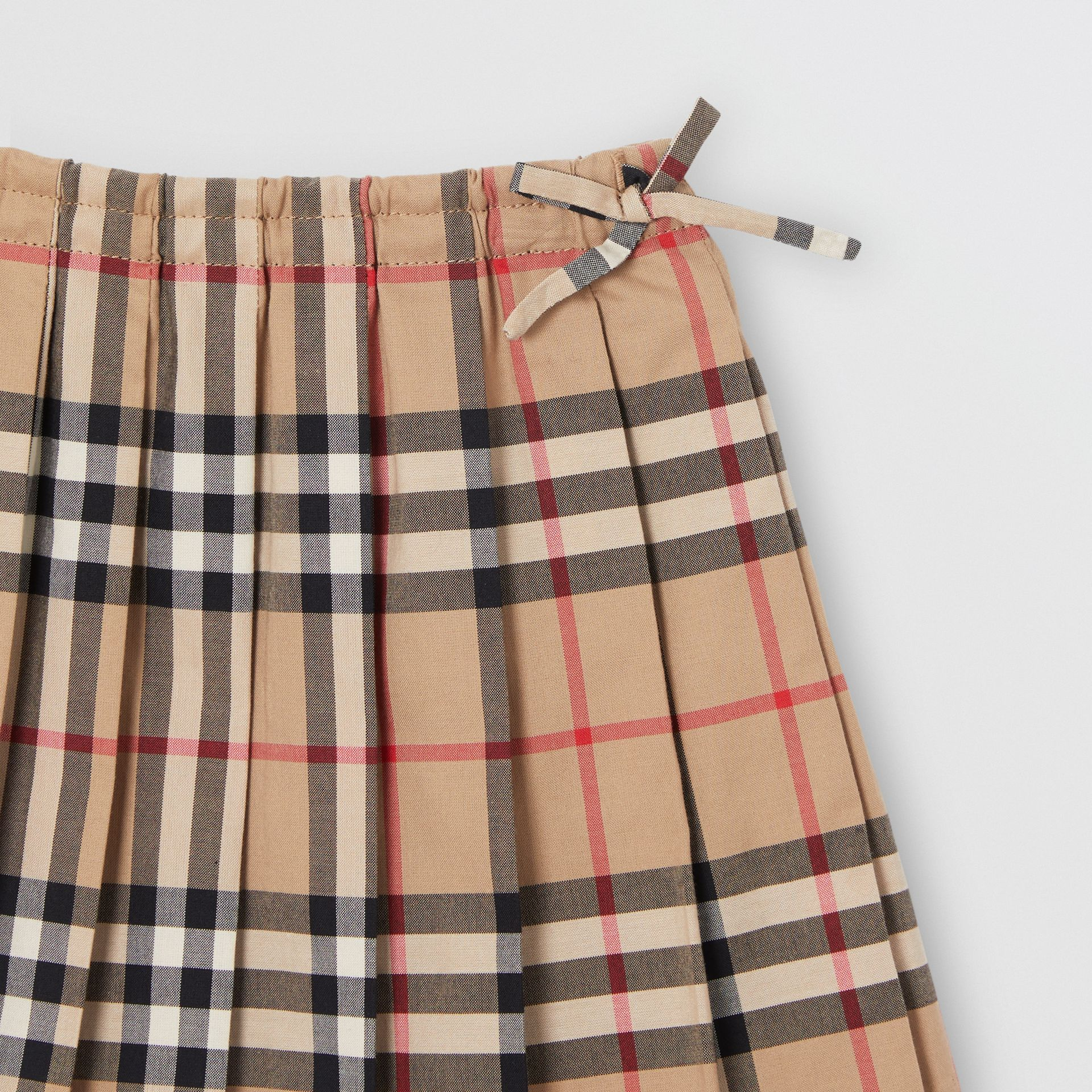Vintage Check Pleated Skirt in Archive Beige - Children | Burberry - gallery image 4