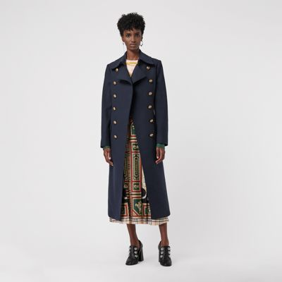 Double Breasted Wool Cashmere Blend Tailored Coat by Burberry