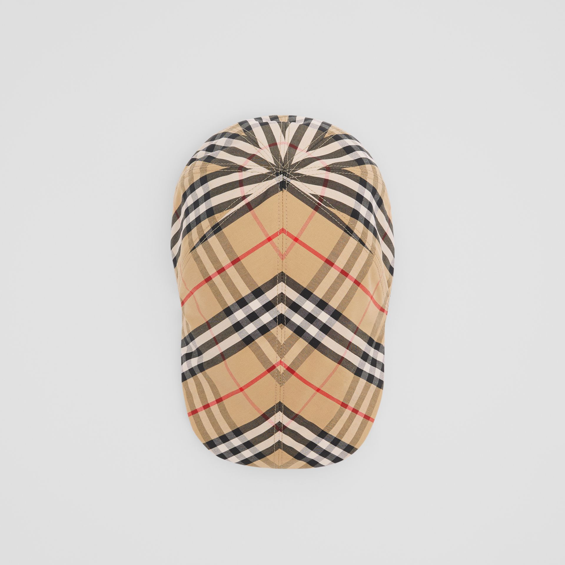 Vintage Check Cotton Flat Cap in Archive Beige | Burberry - gallery image 0