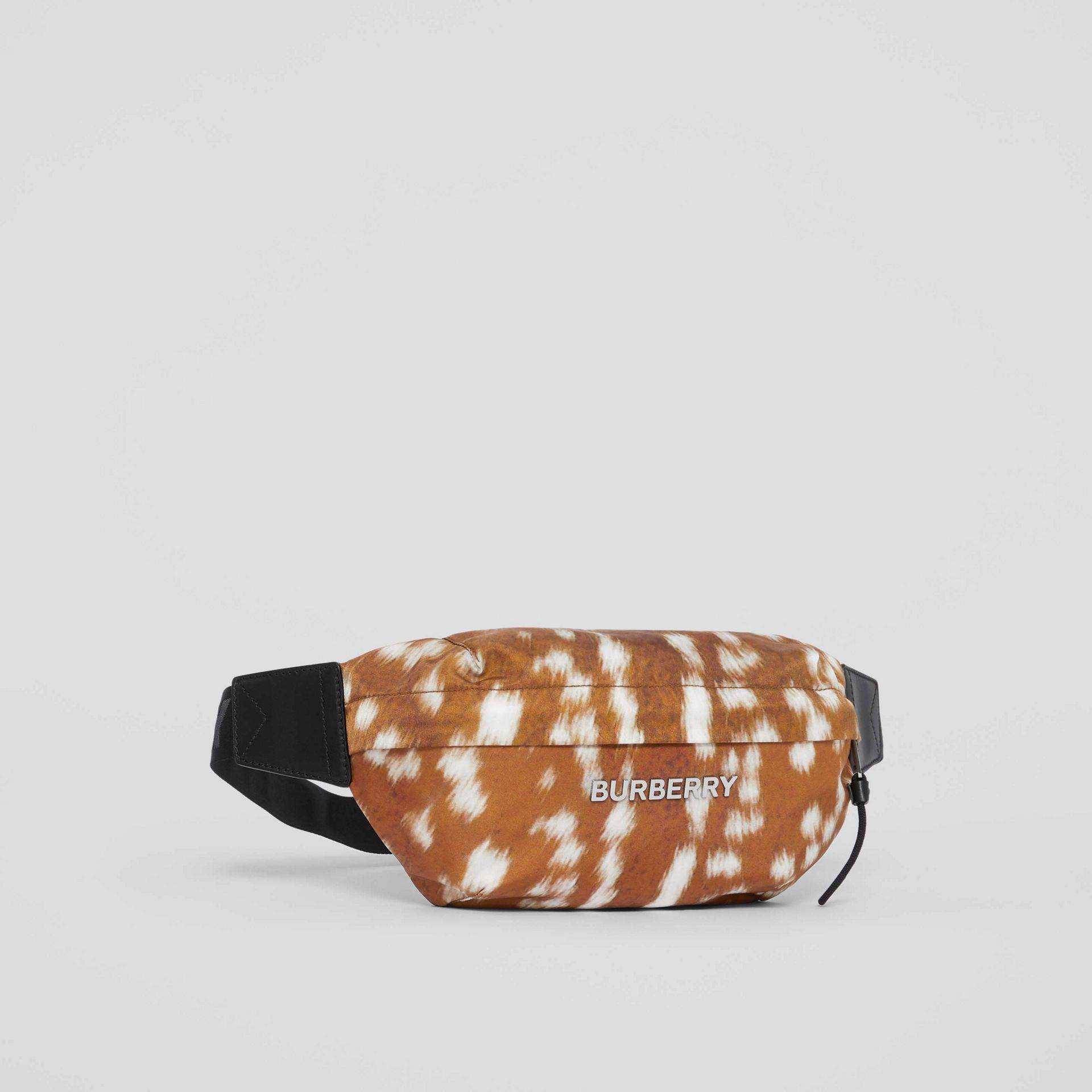 Medium Deer Print Bum Bag in Tan/white - Men | Burberry - gallery image 8