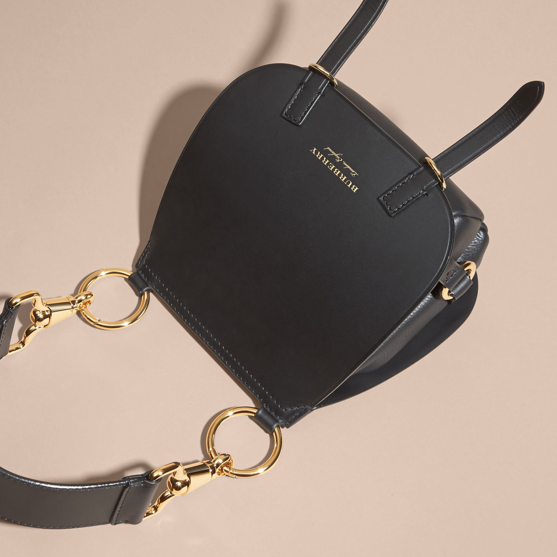 The Bridle Bag in Leather in Black - Women | Burberry - gallery image 6