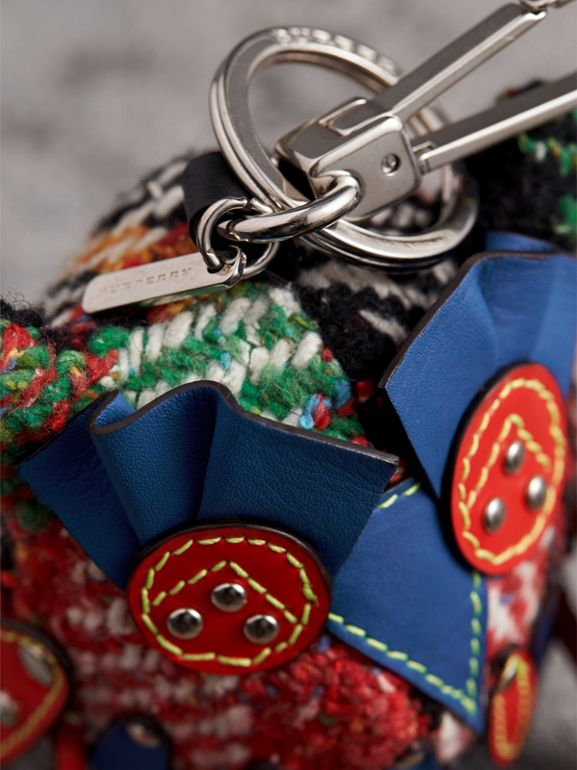 Mavis The Owl Wool Silk Blend Charm in Cornflower Blue | Burberry - cell image 1
