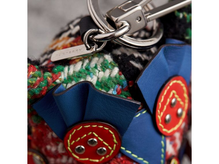 Mavis The Owl Wool Silk Blend Charm in Cornflower Blue | Burberry Singapore - cell image 1