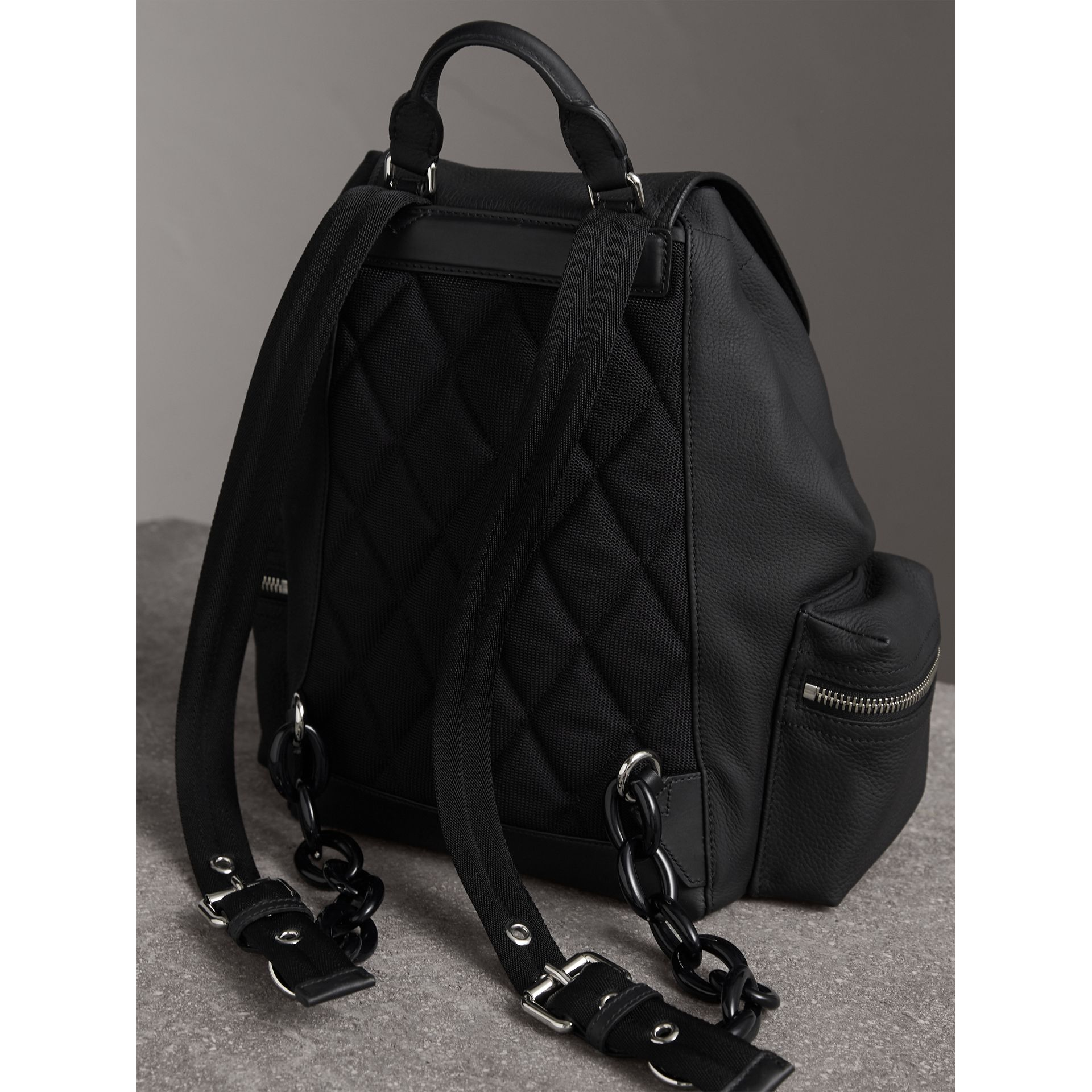 The Medium Rucksack in Deerskin with Resin Chain in Black - Women | Burberry Canada - gallery image 4