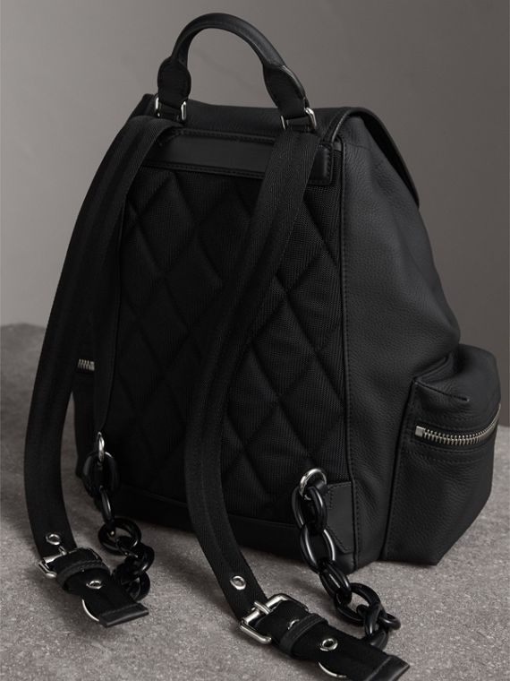 The Medium Rucksack in Deerskin with Resin Chain in Black - Women | Burberry Australia - cell image 3