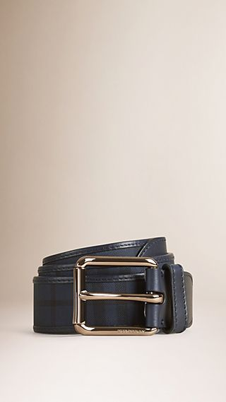 Overdyed Horseferry Check and Leather Belt