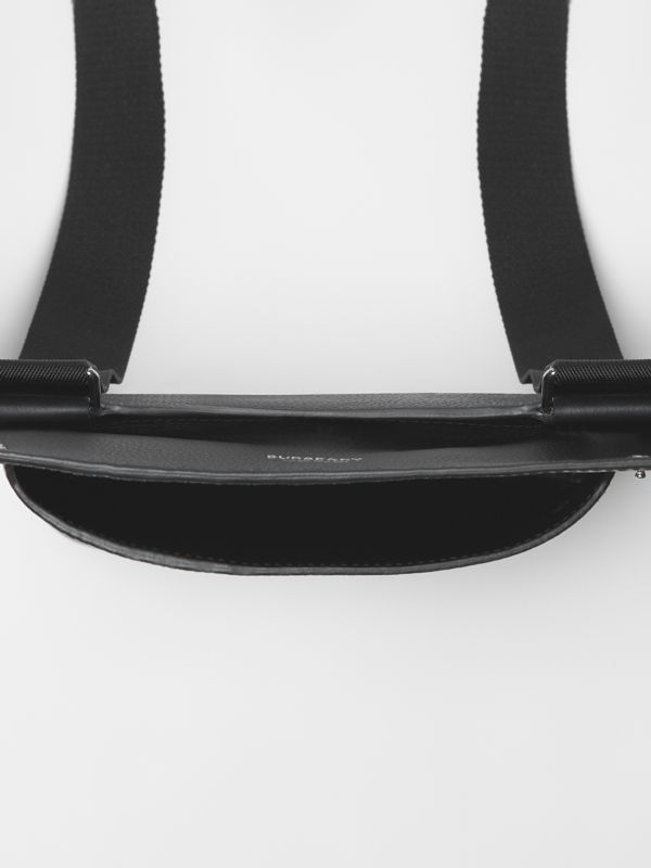 Grainy Leather Crossbody Bag in Black - Men | Burberry Singapore - cell image 3