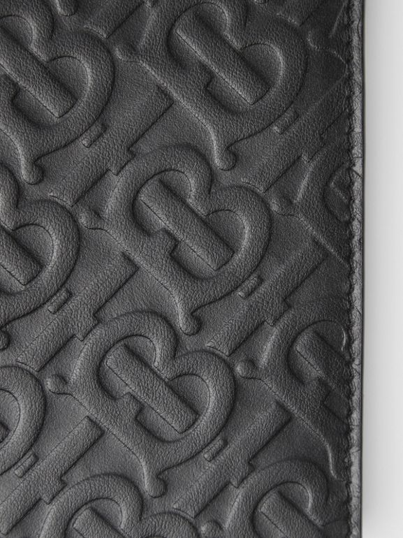 Monogram Leather Continental Wallet in Black - Men | Burberry Canada - cell image 1