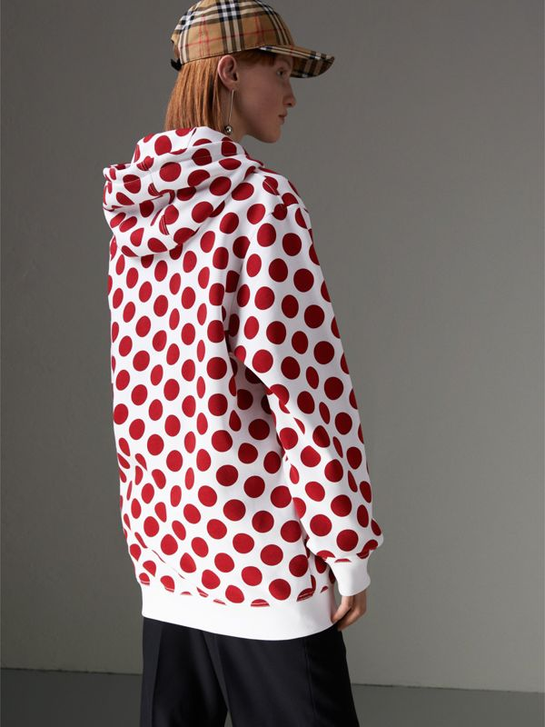 Spot Print Hoodie in Windsor Red - Women | Burberry Singapore - cell image 2