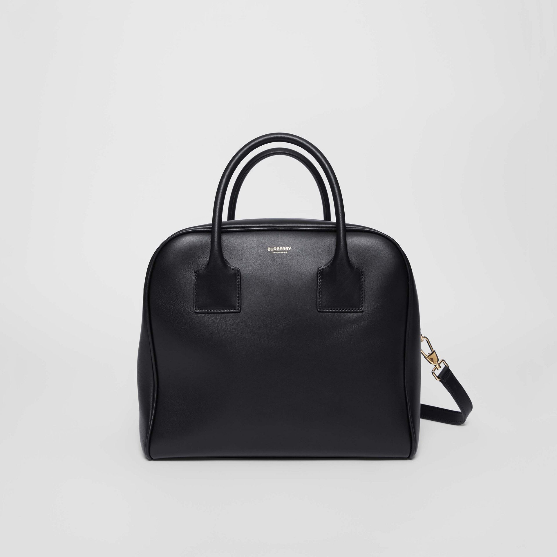 Medium Leather Cube Bag in Black - Women | Burberry United Kingdom - gallery image 0