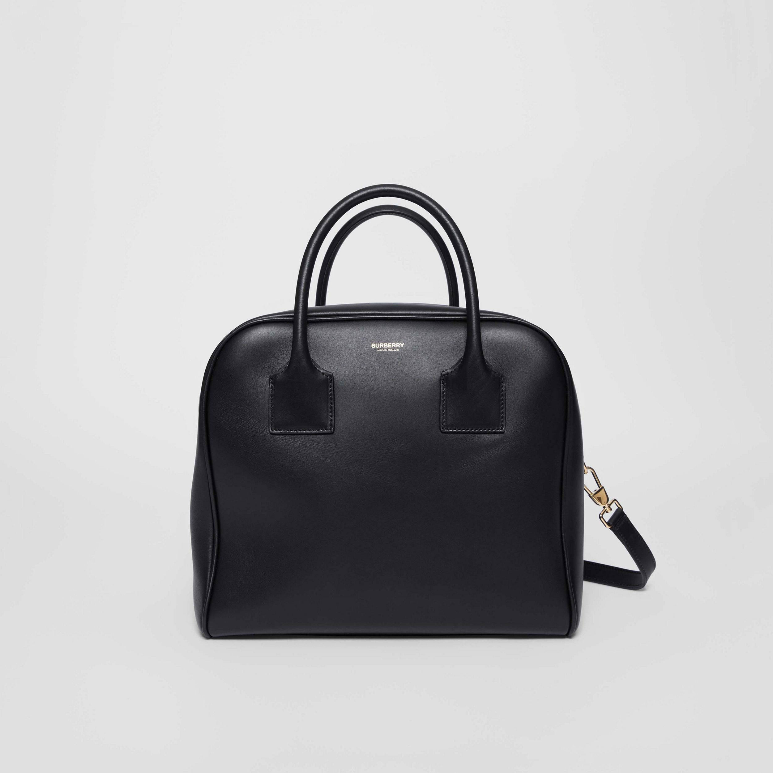 Medium Leather Cube Bag in Black - Women | Burberry United States - 1