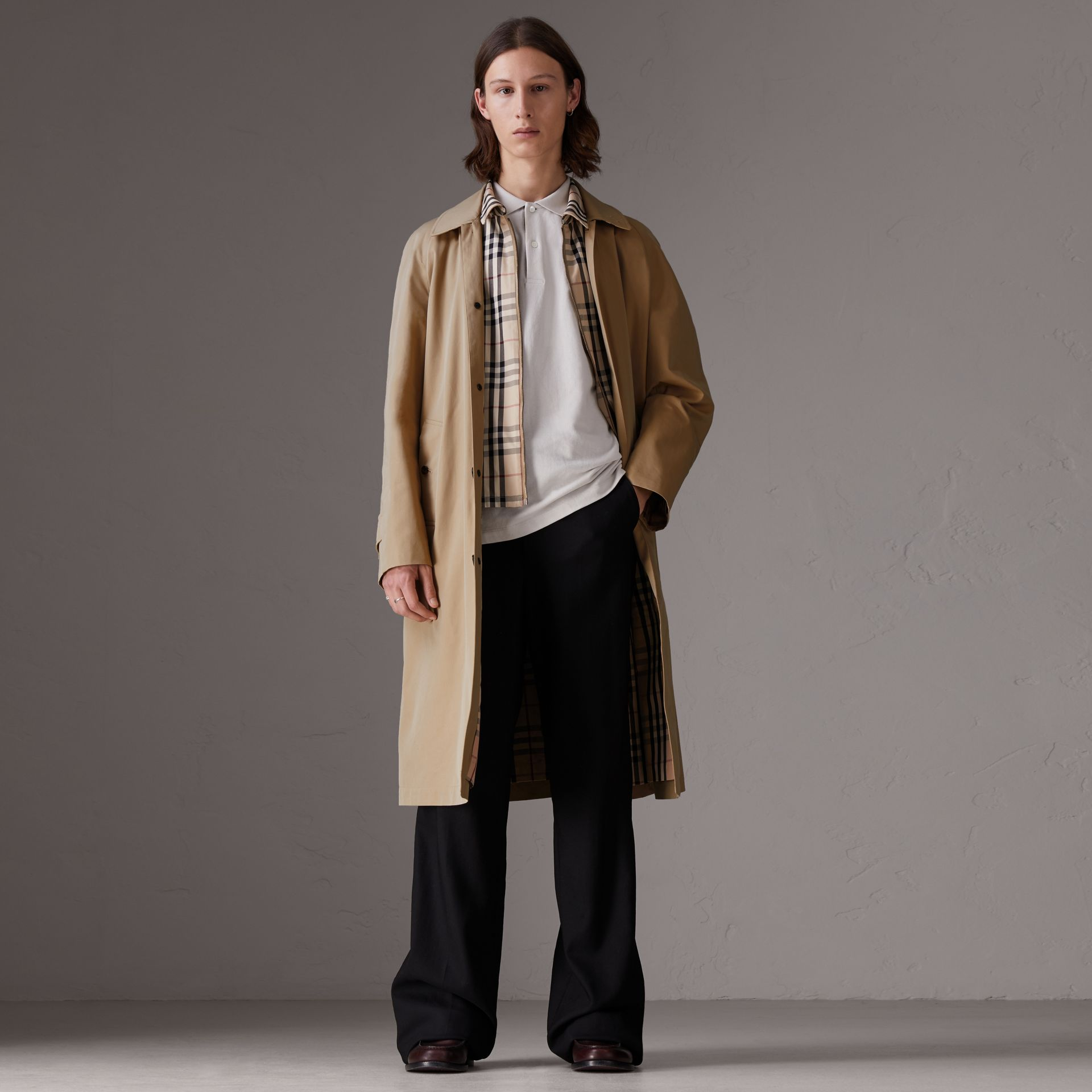 Gosha x Burberry Reconstructed Car Coat in Honey - Men | Burberry United States - gallery image 0