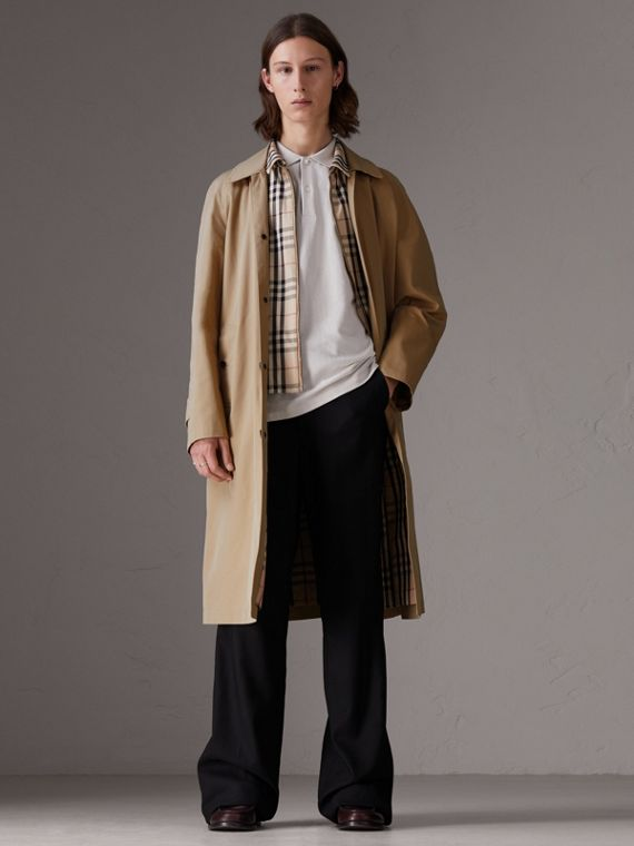 Gosha + Burberry - Cappotto car coat ricostruito (Miele)