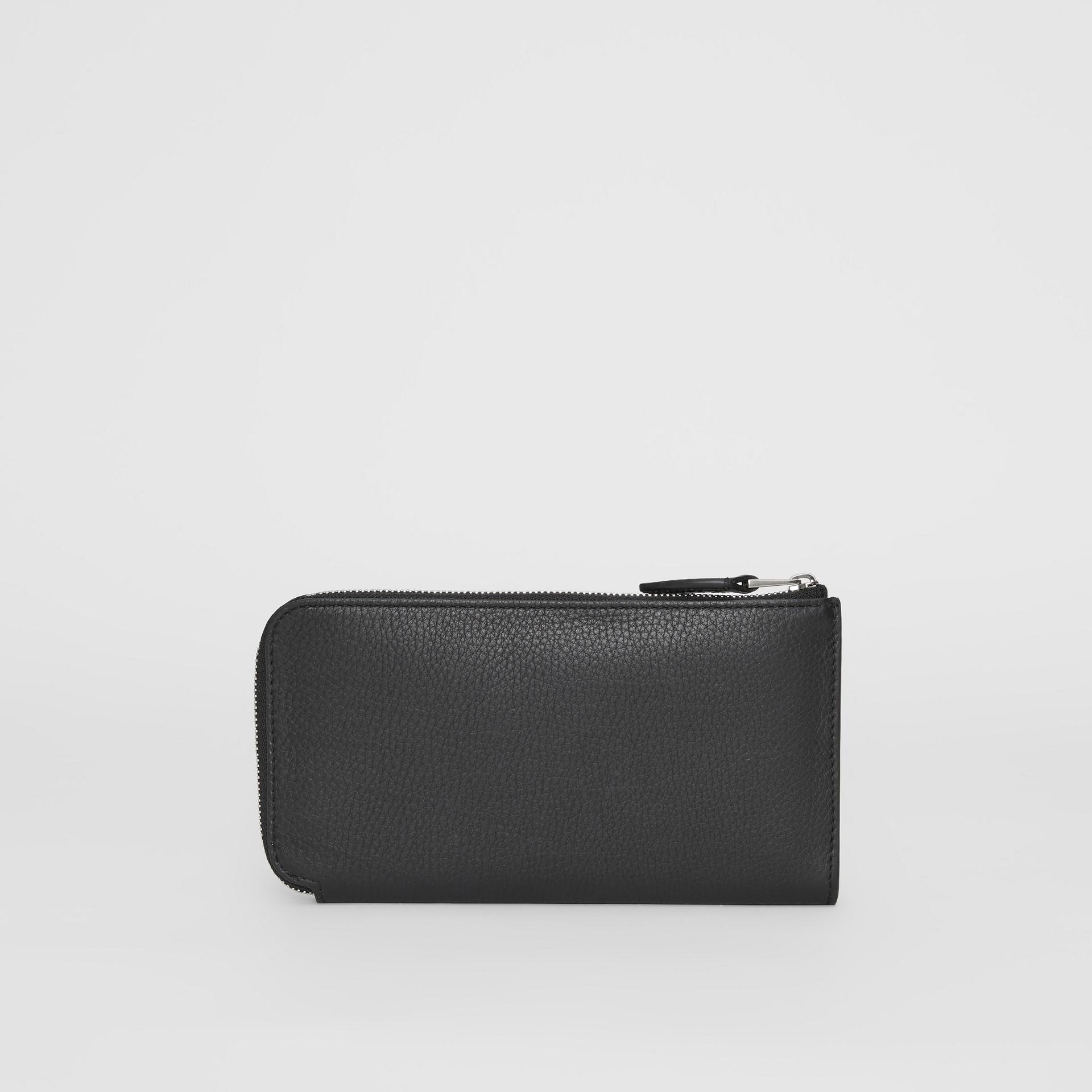 Portefeuille zippé avec porte-monnaie en cuir bicolore (Noir) - Femme | Burberry Canada - photo de la galerie 4