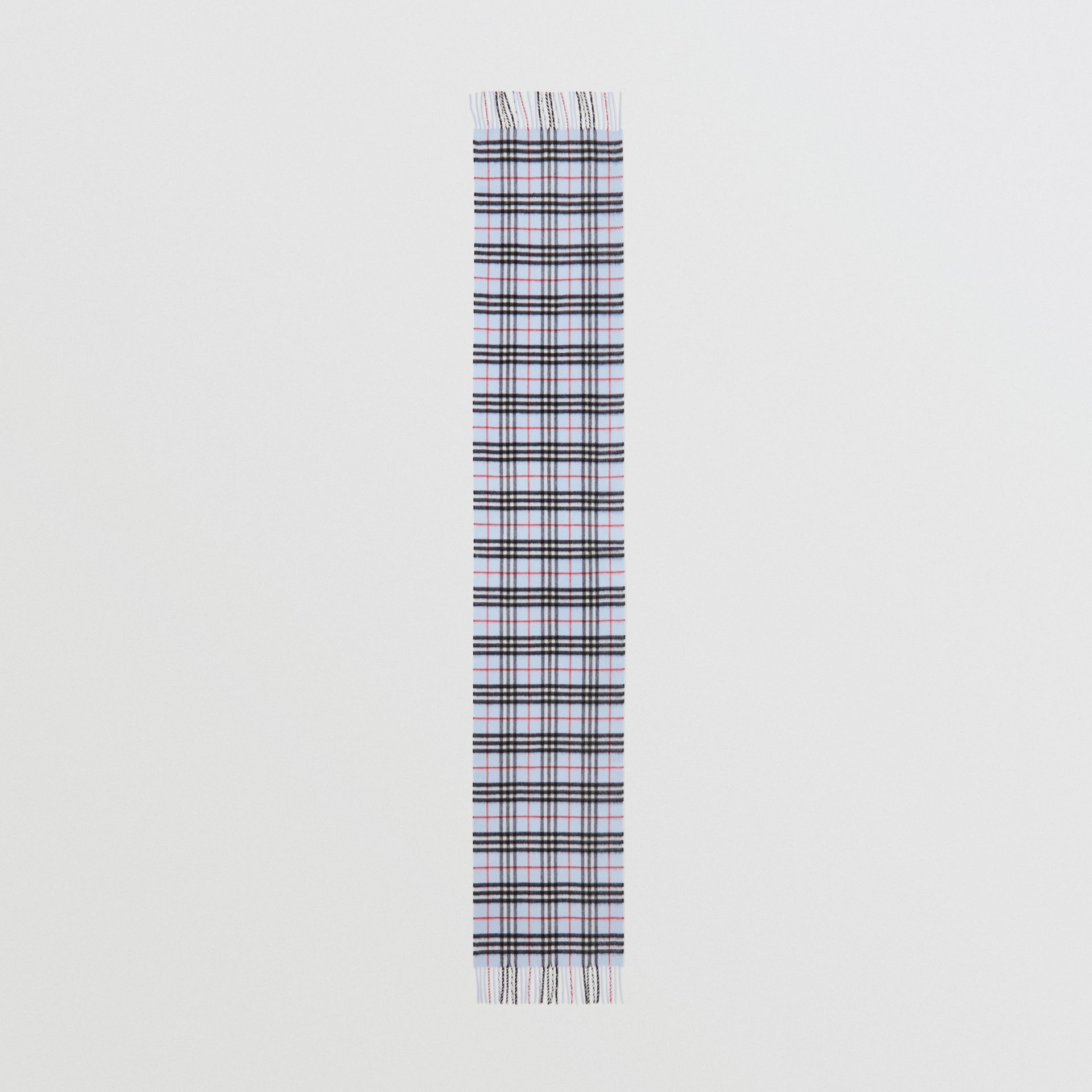The Classic Vintage Check Cashmere Scarf in Pale Blue | Burberry Canada - gallery image 5