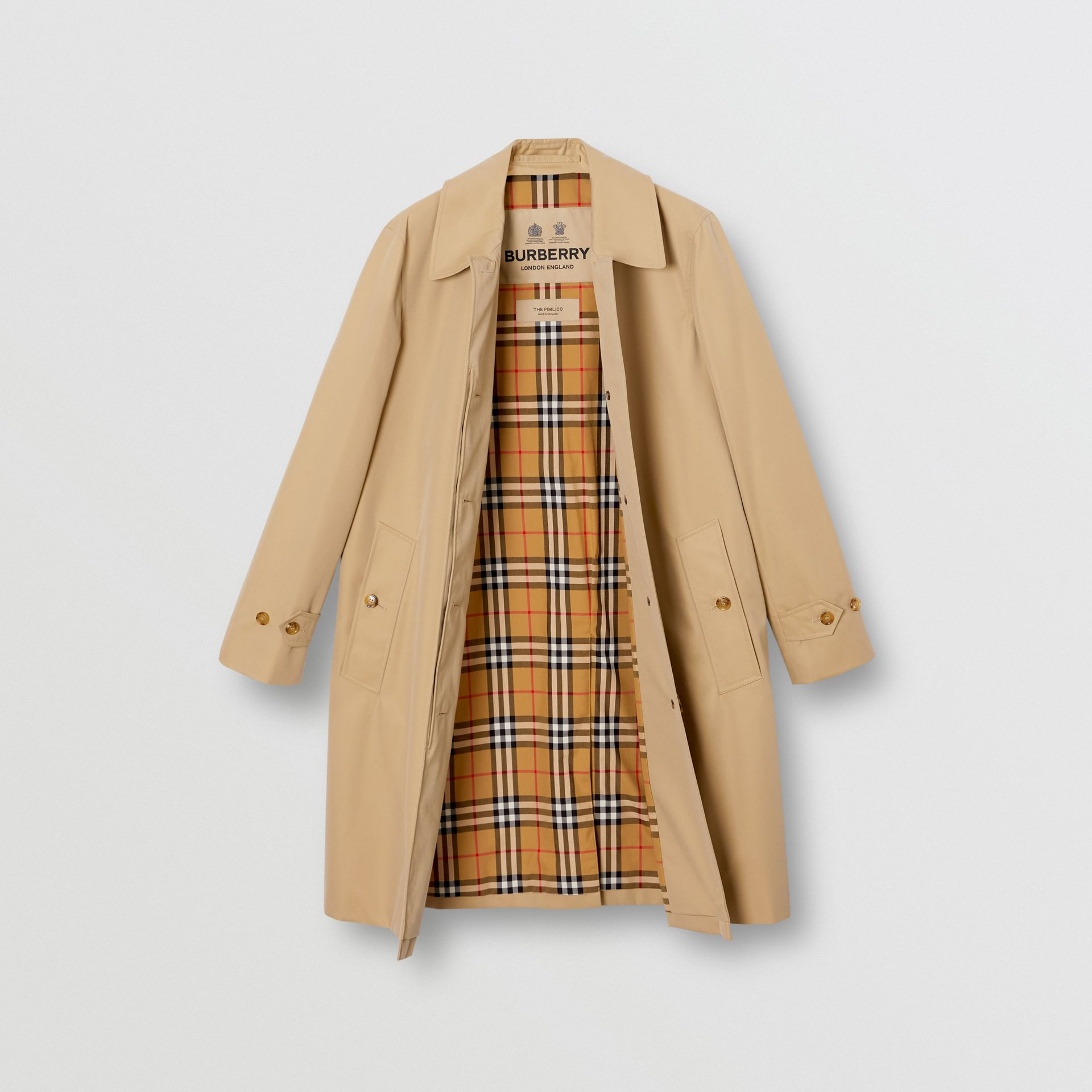 The Pimlico Heritage Car Coat (Honiggelb) - Damen | Burberry - Galerie-Bild 8