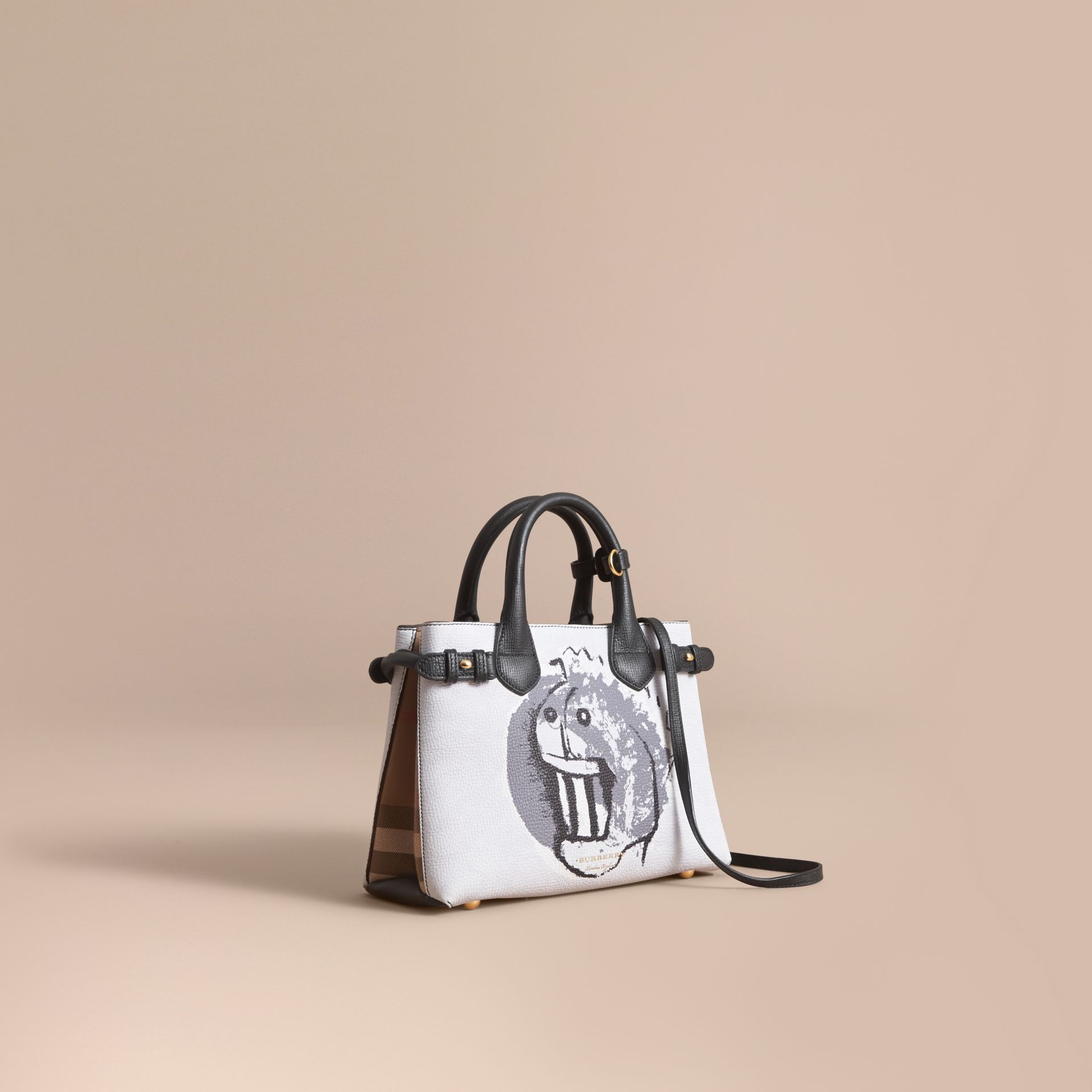 The Small Banner in Leather with Pallas Heads Print - Women | Burberry - gallery image 1