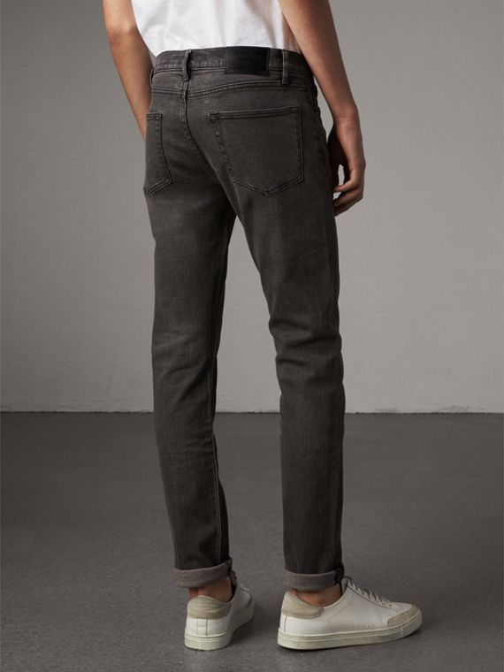 Jean slim stretch en denim japonais - Homme | Burberry - cell image 2