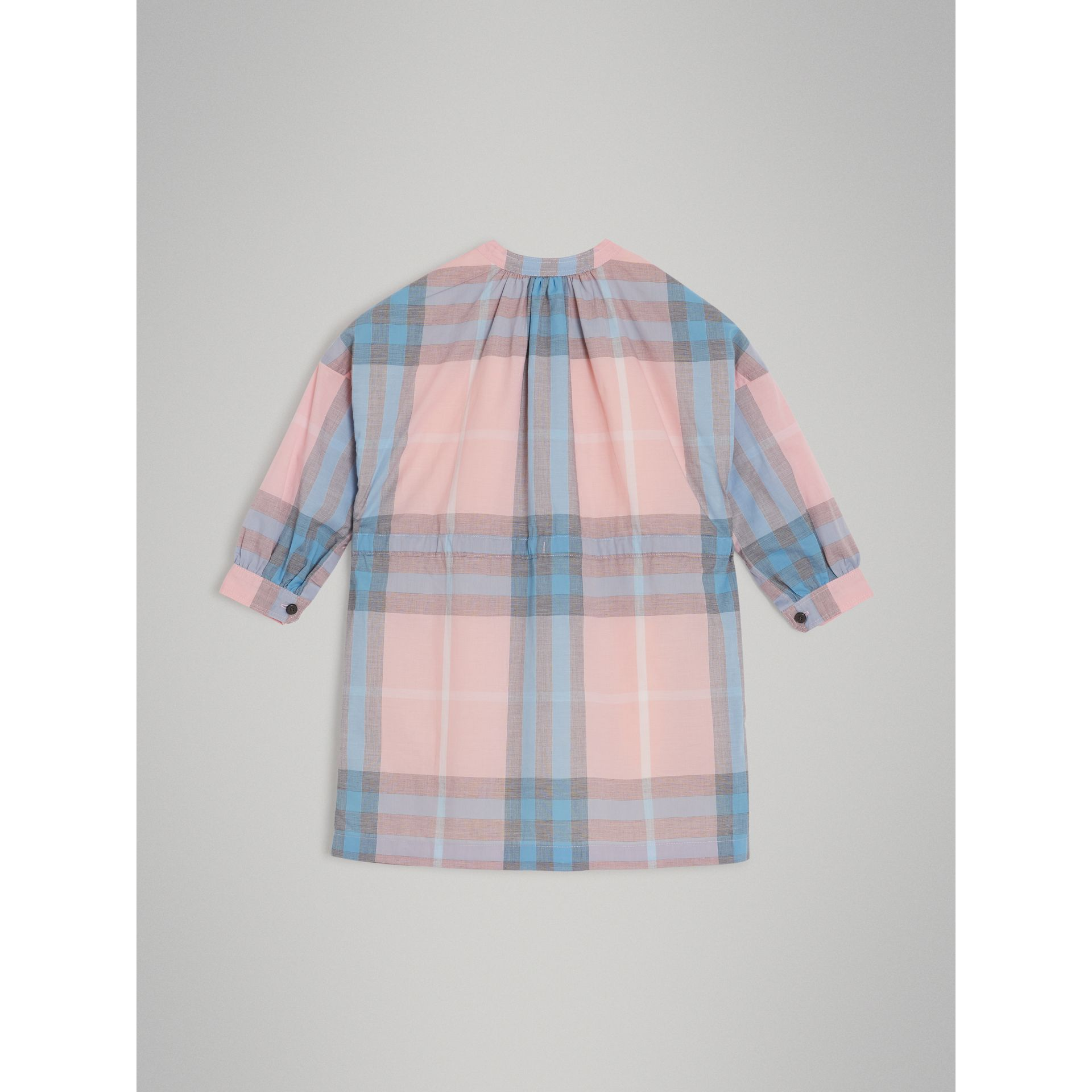 Check Cotton Shirt Dress in Ice Pink | Burberry - gallery image 3