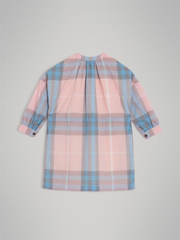 Vestido estilo camisa de algodão com estampa xadrez (Rosa Gelo) | Burberry - cell image 3