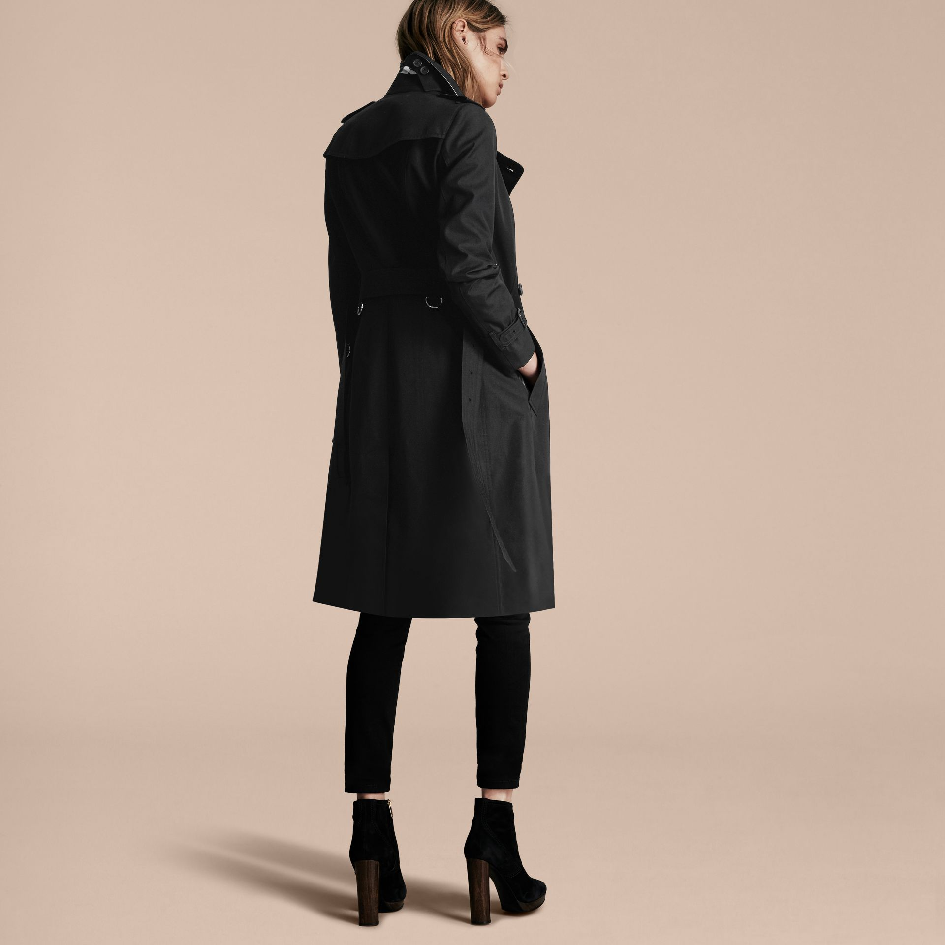 Black The Sandringham – Extra-long Heritage Trench Coat Black - gallery image 3