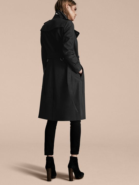 Black The Sandringham – Extra-long Heritage Trench Coat Black - cell image 2