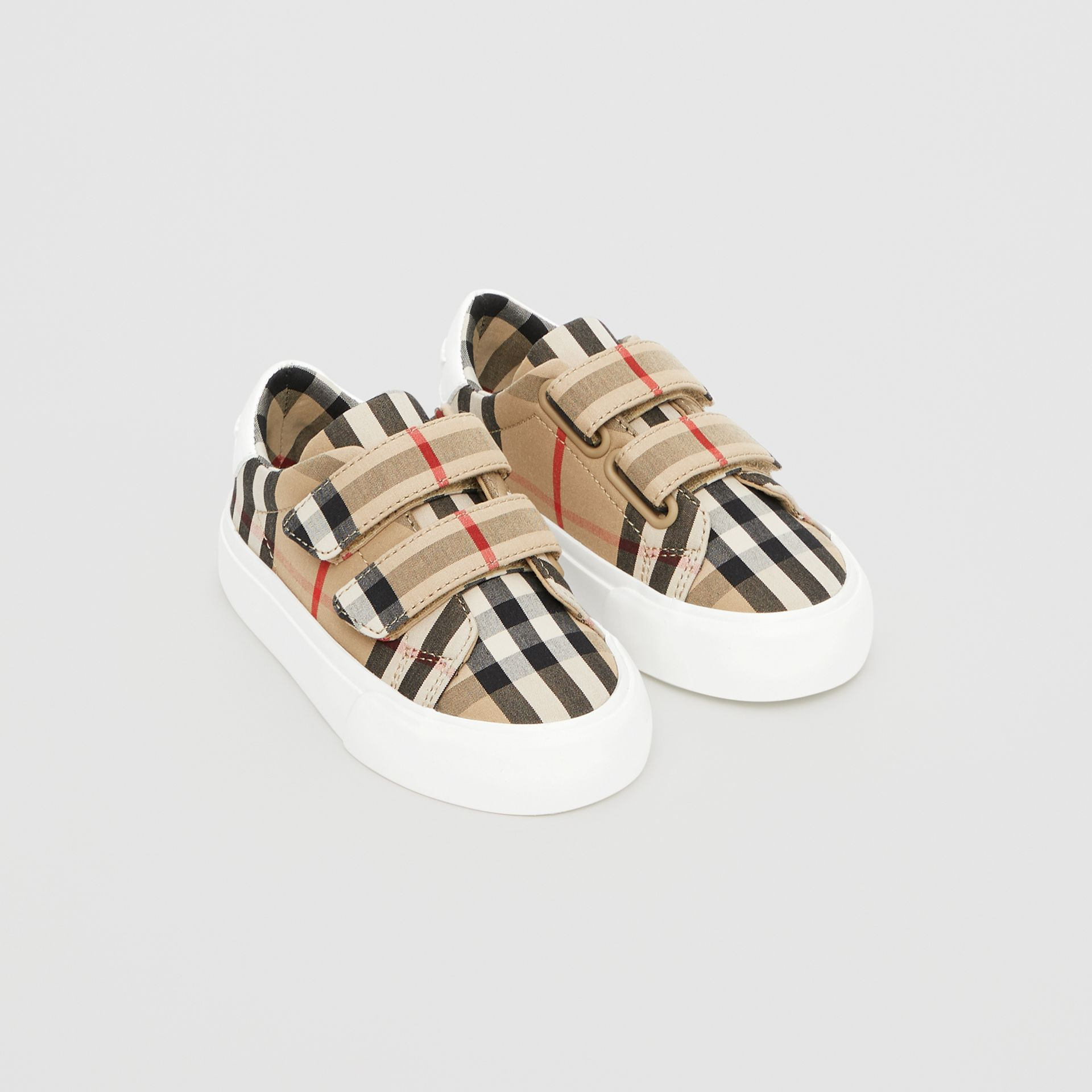 Vintage Check Cotton Sneakers in Archive Beige - Children | Burberry - gallery image 0