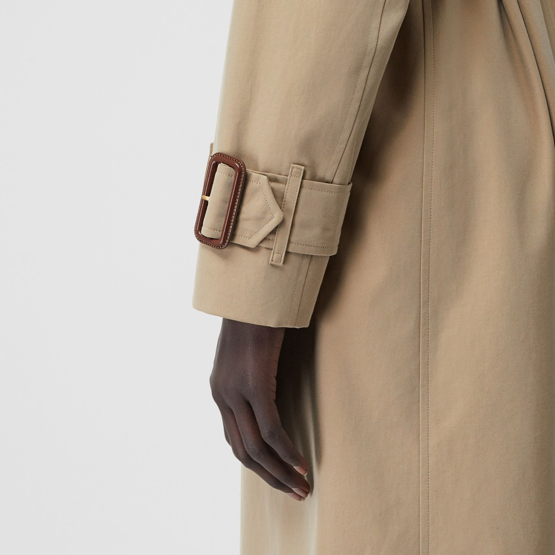 Tropical Gabardine Trench Coat in Honey - Women | Burberry Singapore - gallery image 6