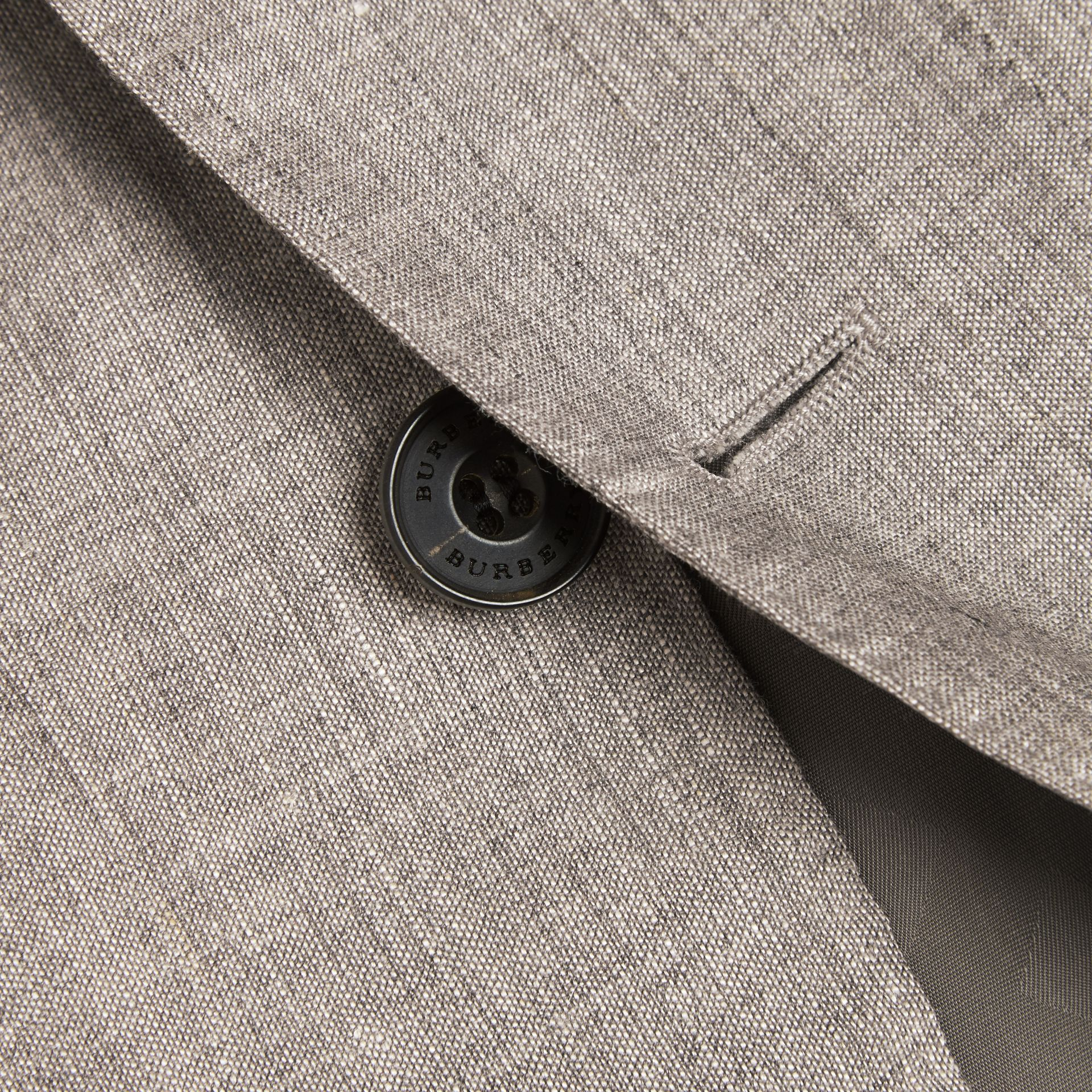 Slim Fit Travel Tailoring Linen Wool Blend Suit - Men | Burberry Singapore - gallery image 2