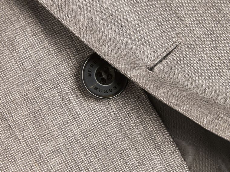 Slim Fit Travel Tailoring Linen Wool Blend Suit - Men | Burberry Singapore - cell image 1