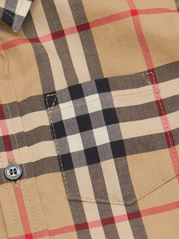 Short-sleeve Vintage Check Cotton Shirt in Archive Beige - Children | Burberry Australia - cell image 1