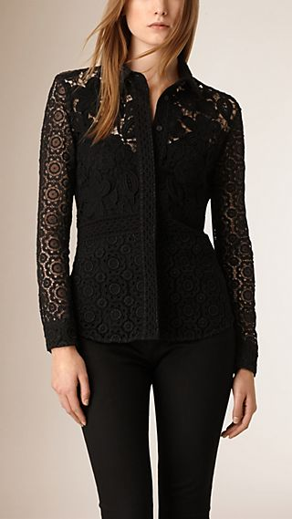 Macramé and Lace Shirt