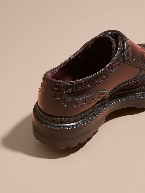 Bordeaux Leather Monk-strap Brogues - cell image 3