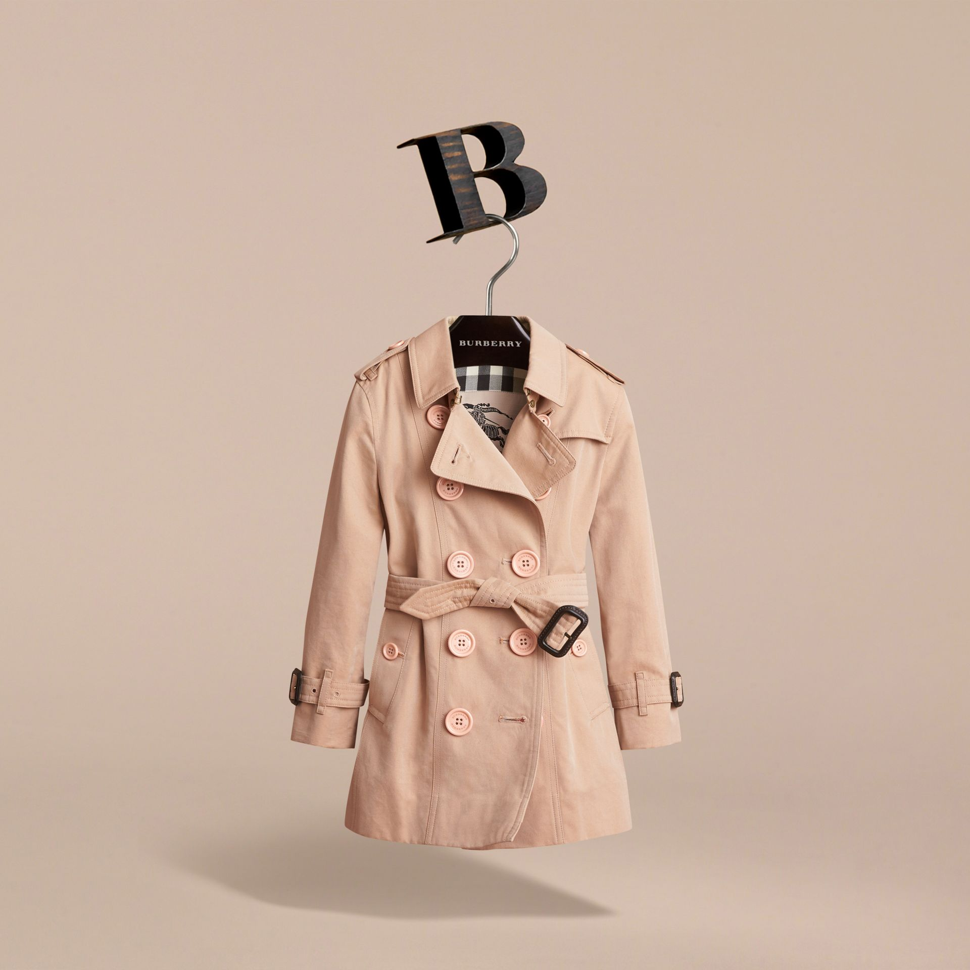 The Sandringham – Heritage Trench Coat in Stone - Girl | Burberry Australia - gallery image 3