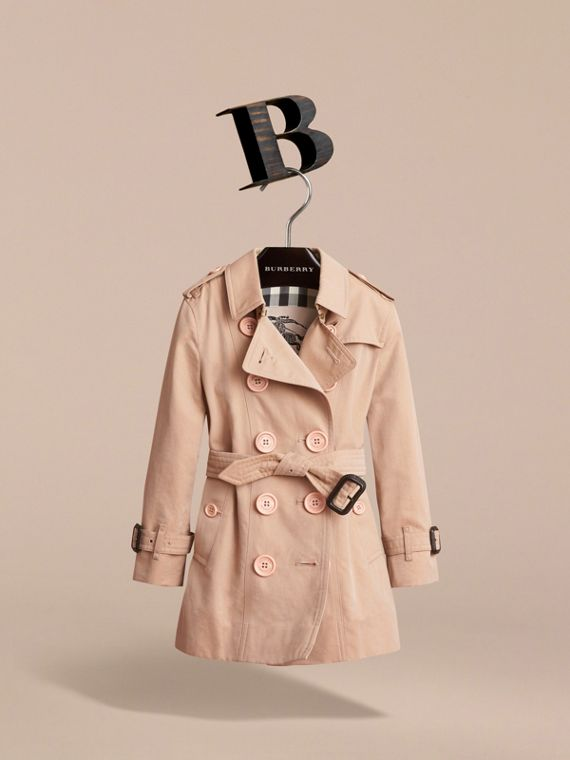 The Sandringham – Heritage Trench Coat in Stone - Girl | Burberry United Kingdom - cell image 2