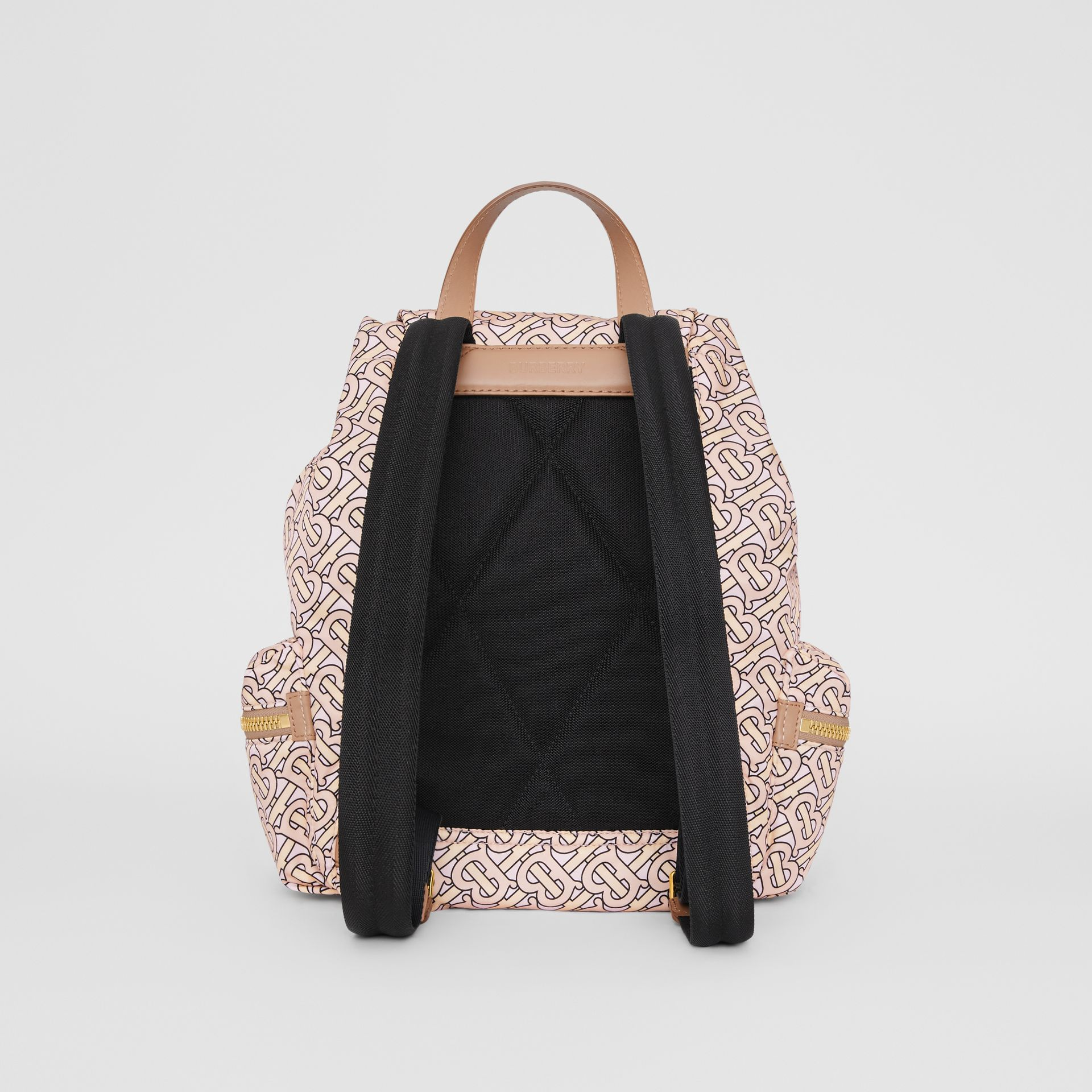 The Medium Rucksack in Monogram Print Nylon in Blush - Women | Burberry Australia - gallery image 7
