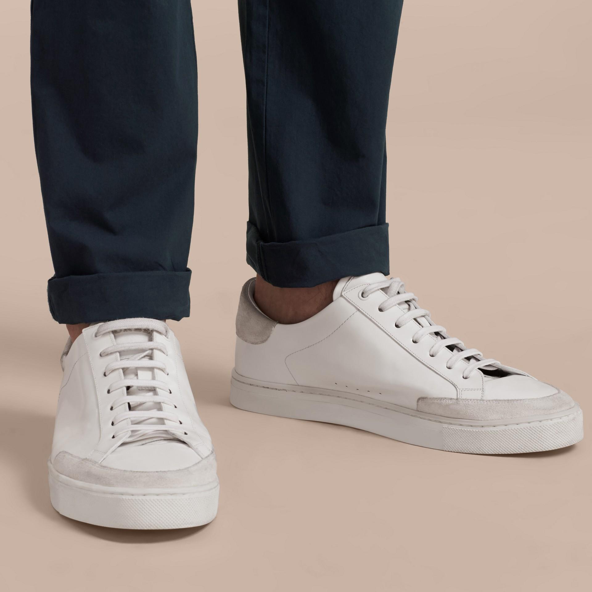Slim Fit Cotton Poplin Chinos Indigo - gallery image 5