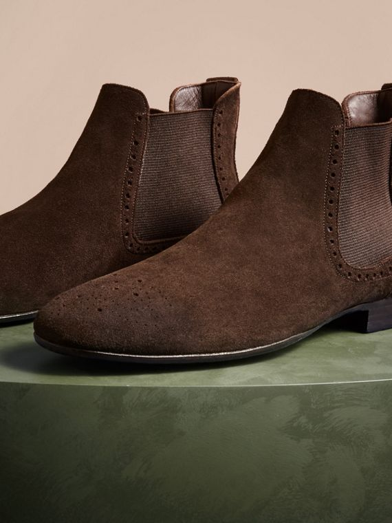 Peat brown Washed-suede Chelsea Boots with Leather Soles - cell image 2