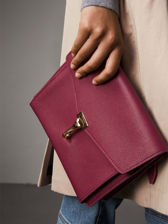 Small Grainy Leather Crossbody Bag in Berry Pink - Women | Burberry Singapore - cell image 3