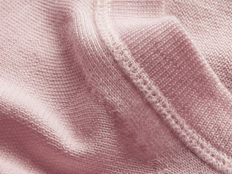Light pink Crew Neck Cashmere Sweater Light Pink - cell image 1