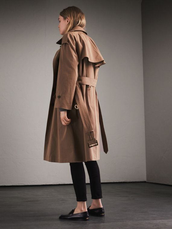 Taupe Tropical Gabardine Trench Coat - cell image 2